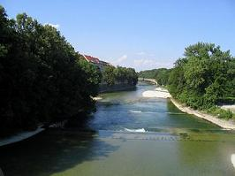 The river Isar in Munich